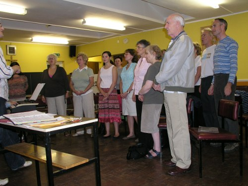 Colliers Wood Chorus' second ever rehearsal